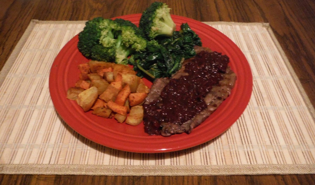 Buffalo Tastes Good! – Bison Ribeye with Drunk Cherry Sauce