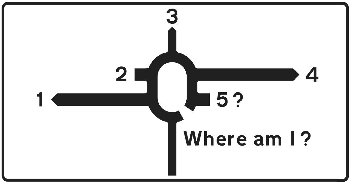 roundabout sign 2F